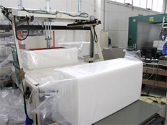 High Italian technology for manufacturing process of our polyester fiber foam products made in Italy, Italian polyester products manufacturing for acoustic padding, furniture sofa pads, polyester fibers mattress pad, clothing foam padding manufacturer, polyester fibe foam, thermal and acoustic insulation for civil building applications for the industry, we offer our Engineering research department to meet your industrial requirements, looking for distributors in Asia, Africa, Europe, Middle East and Latin America...